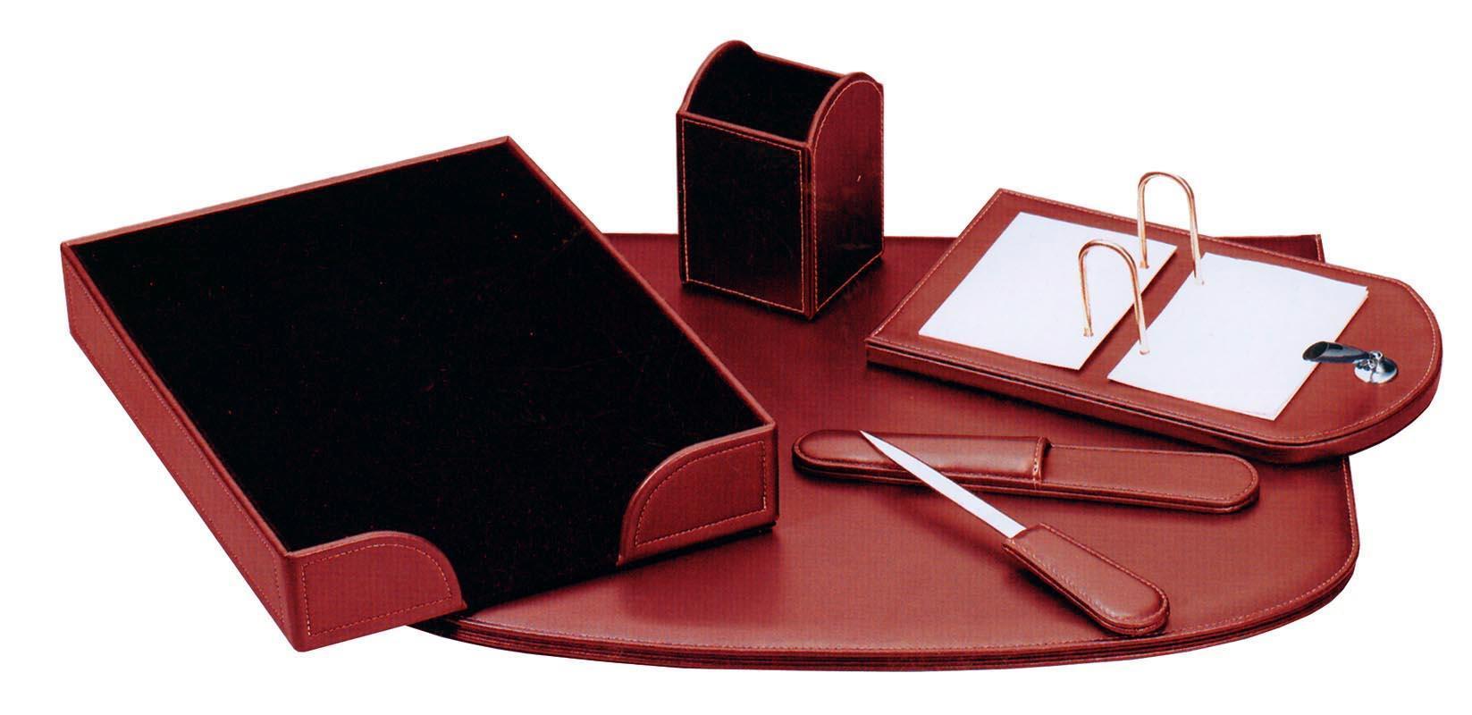 Fineline Fineline σετ γραφείου από συνθετ. δέρμα μπορντώ 5 τεμάχια 19108-04ΑΜ-2