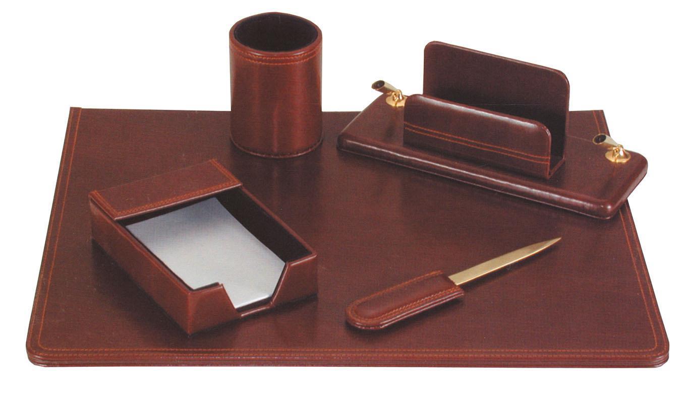 Fineline Fineline σετ γραφείου από συνθετικό δέρμα καφέ 5 τεμάχια 19109-07ΑΜ-2