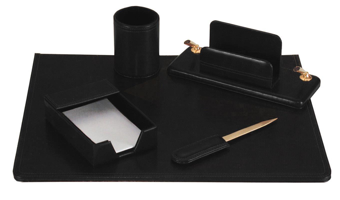 Fineline Fineline σετ γραφείου από συνθετικό δέρμα μαύρο 5 τεμάχια 19109-09ΑΜ-2
