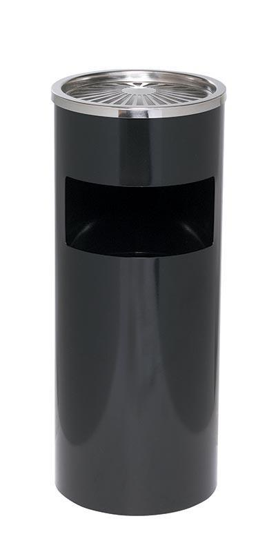 Alco Alco καλάθι αχρήστων-σταχτοδοχείο μαύρο Y61εκ. ø25εκ. 19389---ΑΝ-2