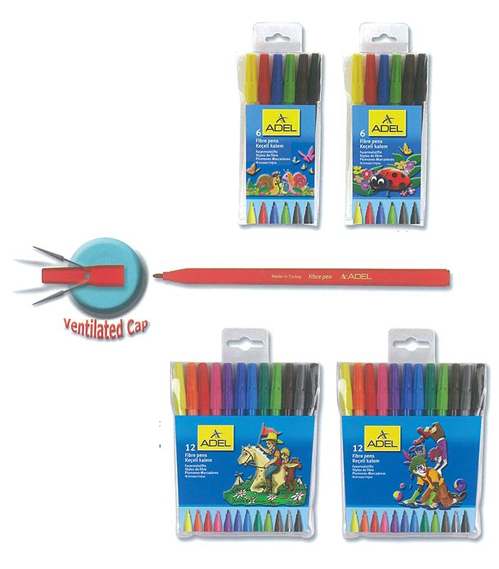Adel Adel μαρκαδόροι λεπτής γραφής 12 χρώματα 21706---03-2