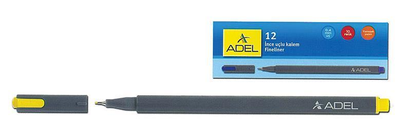 Adel Adel μαρκαδόρος fineliner 0.4mm κίτρινος 21764-01---2