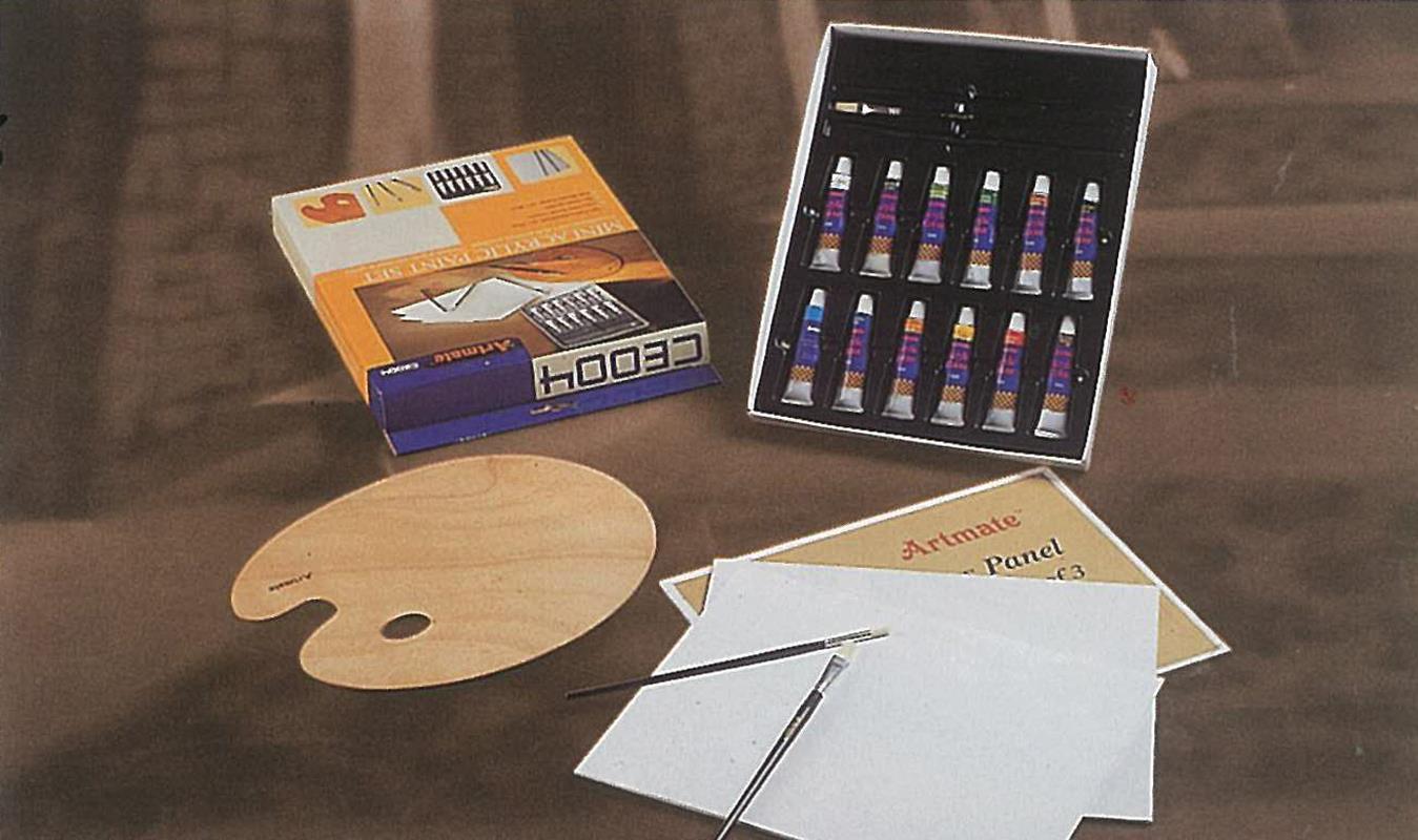 Artmate Artmate mini σετ ζωγραφικής ακρυλικών χρωμάτων 25625---ΒΥ-2