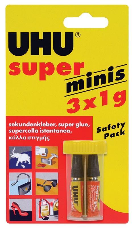 Uhu Uhu Super Glue mini 3x1gr 26034---ΓΖ-2