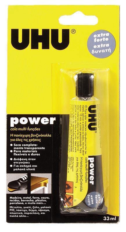 Uhu Uhu βενζινόκολλα Power multi purpose 33ml 26036---ΓΖ-2
