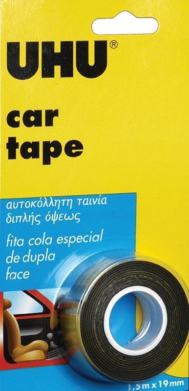 Uhu Uhu ταινία διπλής όψης μαύρη car tape 19χιλ. x 1.5μ. 26043---ΓΖ-2