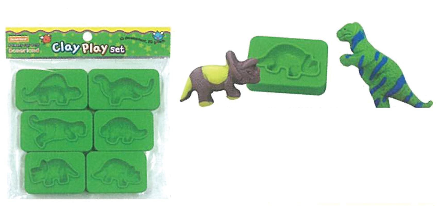 Donerland Καλούπια πλαστικά Δεινόσαυροι 6 σχέδια 28318---ΔΑ-2