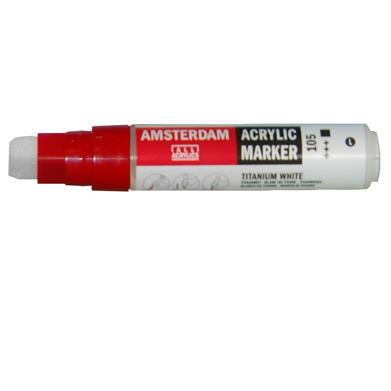 Talens Talens amsterdam marker 105 titanium white large 38778105---2