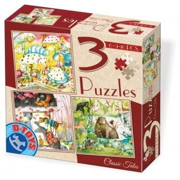 D-Toys Παζλ 3 σε 1 με 6-9-12 κομμ 72924-01 Π.254.292401