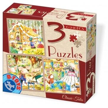 D-Toys Παζλ 3 σε 1 με 6-9-12 κομμ 72924-02 Π.254.292402