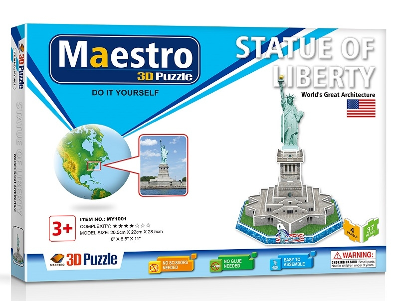Remoundo 3D ΠΑΖΛ Statue of Liberty 37ΤΜΧ MY1001 6970114321015