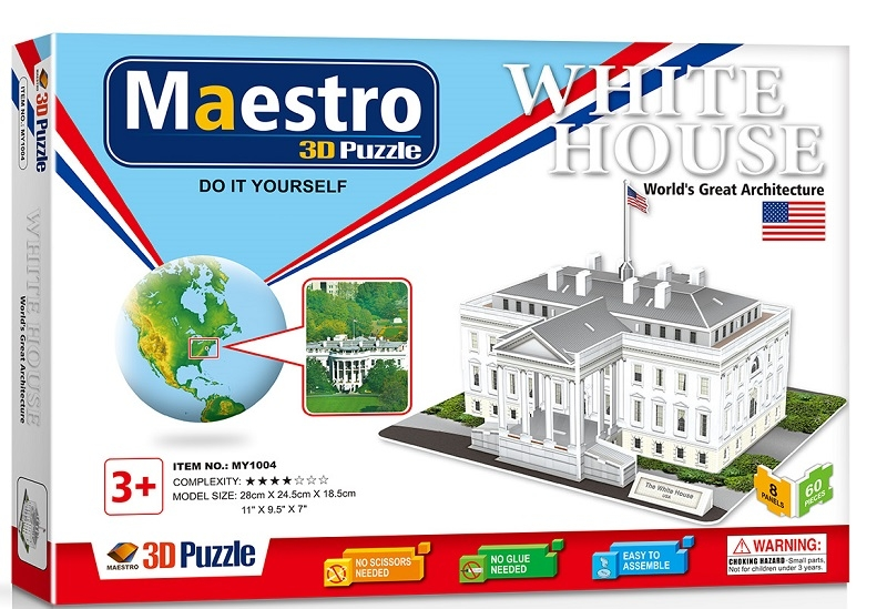 Remoundo 3D ΠΑΖΛ The White House 60ΤΜΧ MY1004 6970114321046