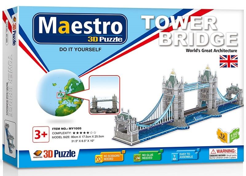 Remoundo 3D ΠΑΖΛ Tower Bridge 150ΤΜΧ MY1005 6970114321053