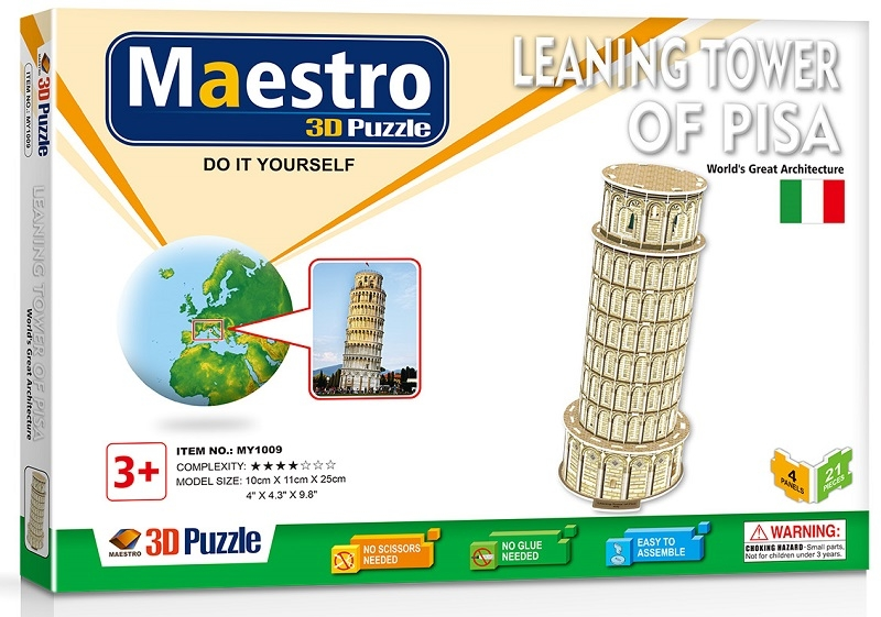 Remoundo 3D ΠΑΖΛ Leaning Tower of Pisa 21ΤΜΧ MY1009 6970114321091