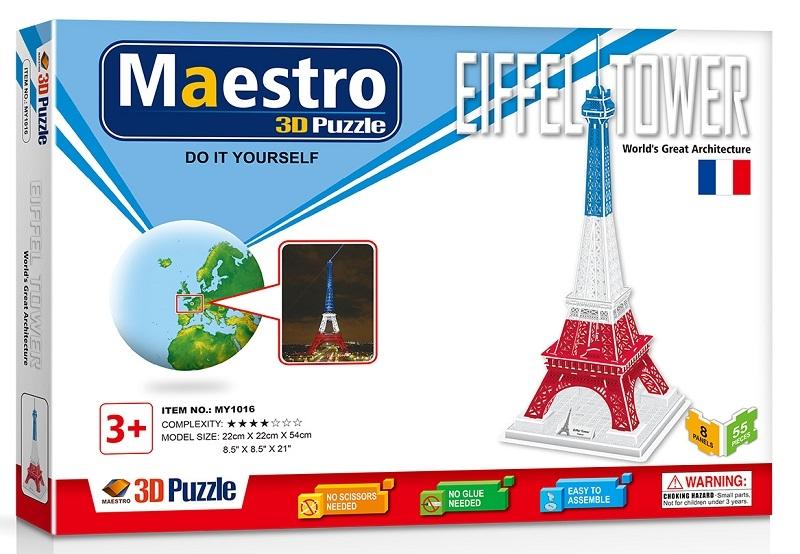 Remoundo 3D ΠΑΖΛ Eiffel Tower 55ΤΜΧ MY1016 6970114321169