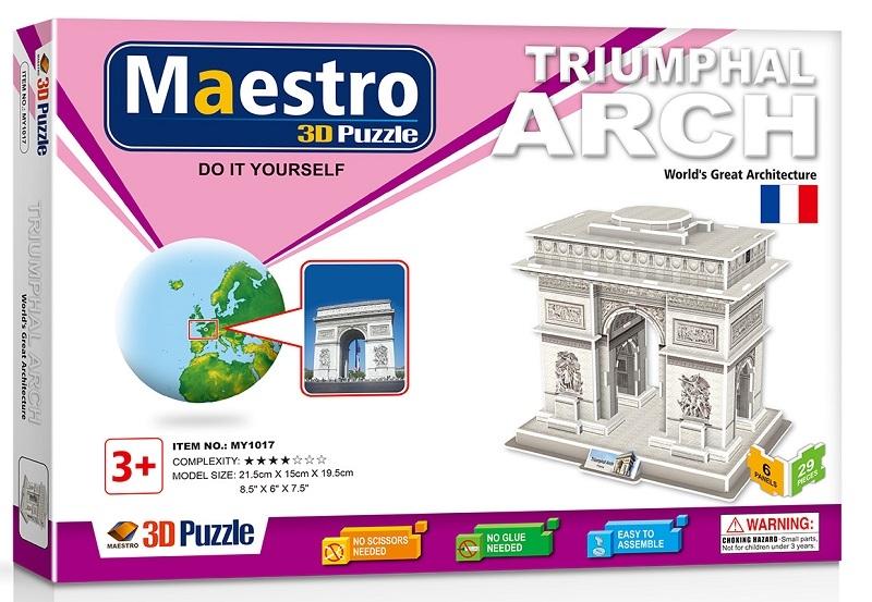 Remoundo 3D ΠΑΖΛ Triumphal Arch 29ΤΜΧ MY1017 6970114321176