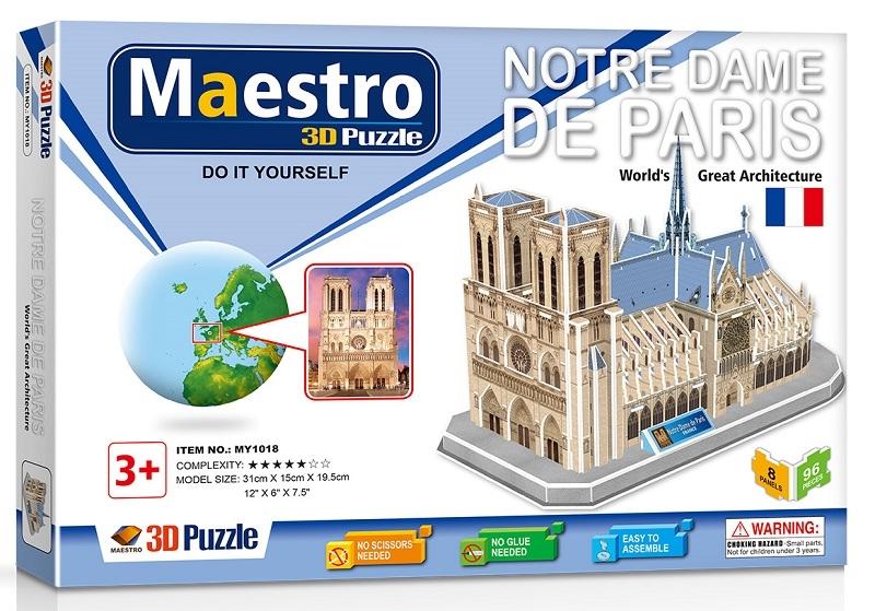 Remoundo 3D ΠΑΖΛ Notre Dame de Paris 96ΤΜΧ MY1018 6970114321183
