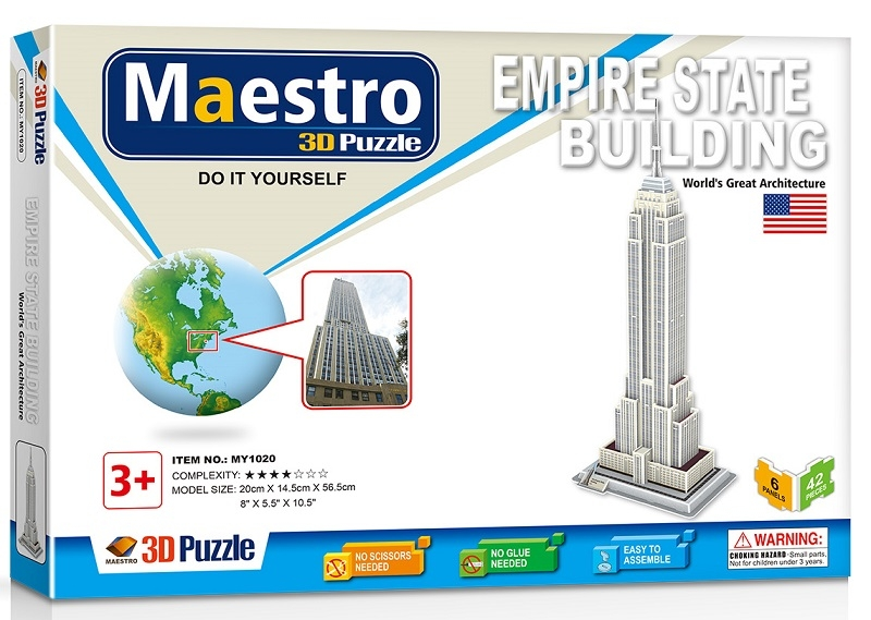 Remoundo 3D ΠΑΖΛ Empire State Building 42ΤΜΧ MY1020 6970114321206