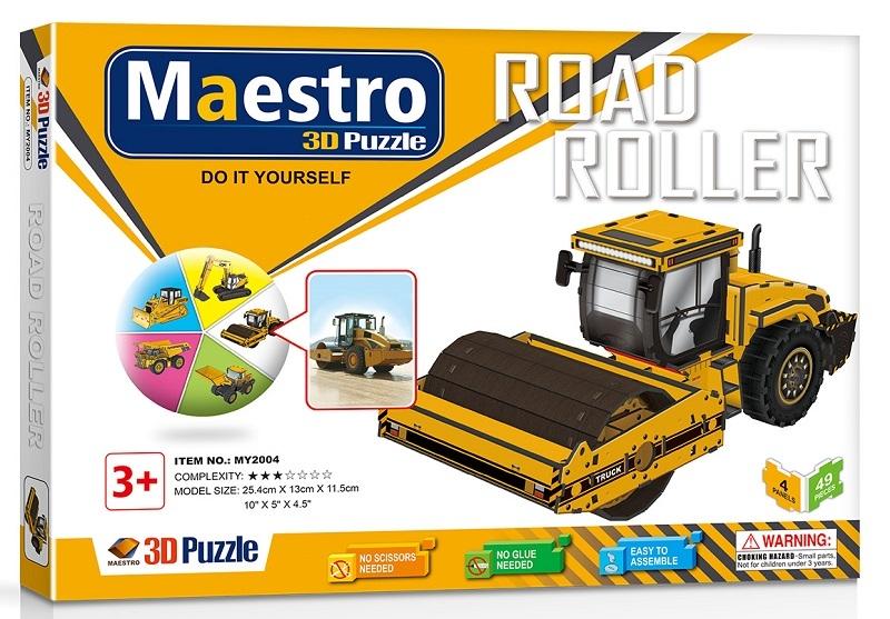 Remoundo 3D ΠΑΖΛ Road Roller 49ΤΜΧ MY2004 6970114322043
