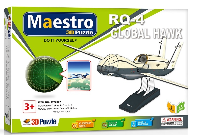Remoundo 3D ΠΑΖΛ RQ-4 Global Hawk 24ΤΜΧ MY2007 6970114322074