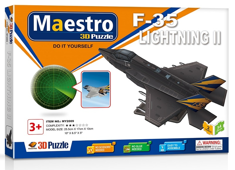 Remoundo 3D ΠΑΖΛ F-35 Lightning II 34ΤΜΧ MY2009 6970114322098