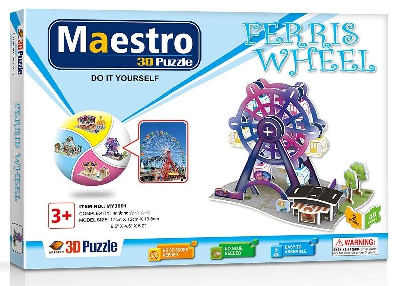 Remoundo 3D ΠΑΖΛ Ferris Wheel 49ΤΜΧ MY3001 6970114323019