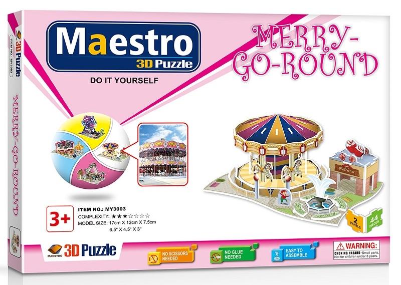 Remoundo 3D ΠΑΖΛ Merry-Go-Round 44ΤΜΧ MY3003 6970114323033
