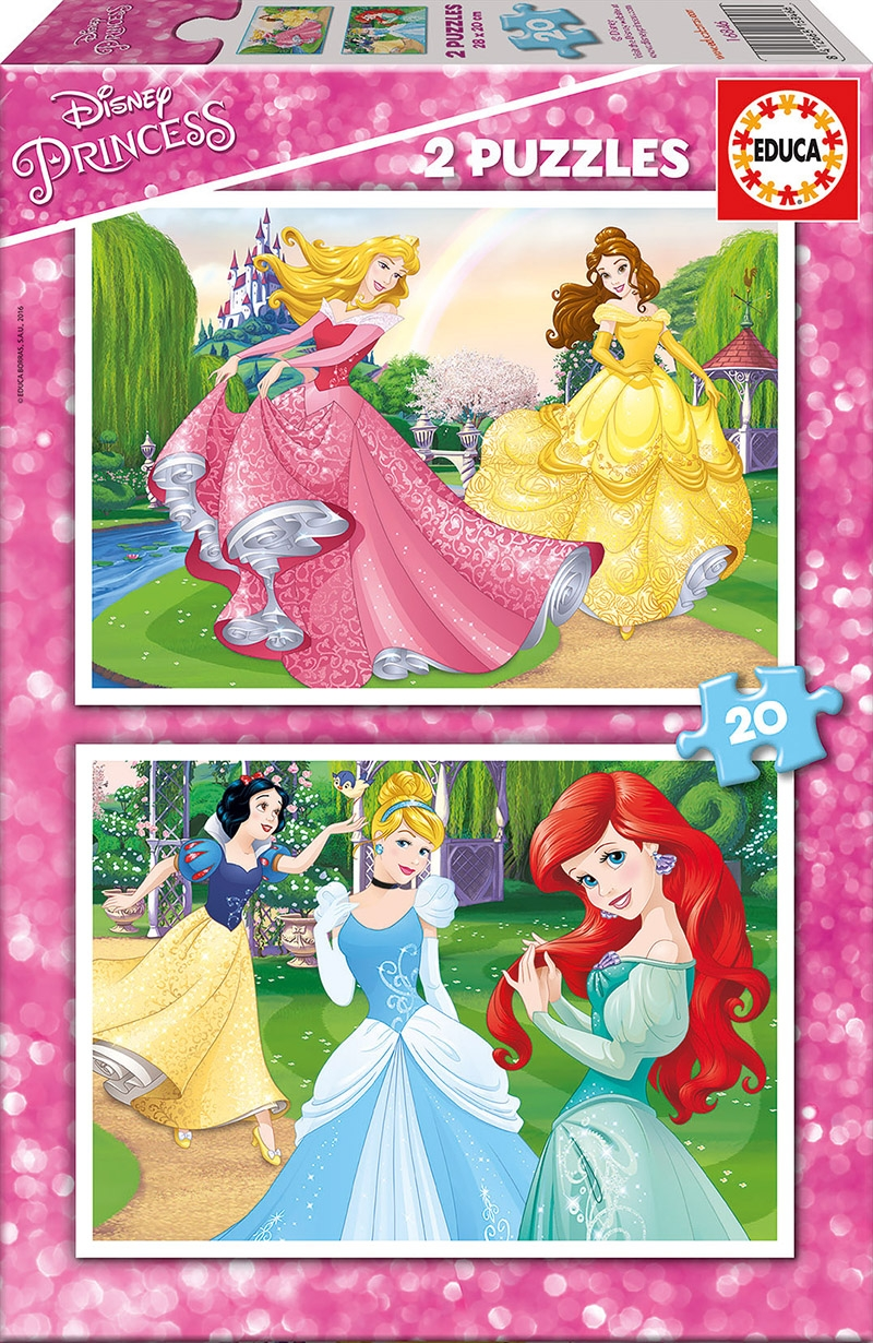 Educa Παζλ 2X20 DISNEY PRINCESS 16846 8412668168466