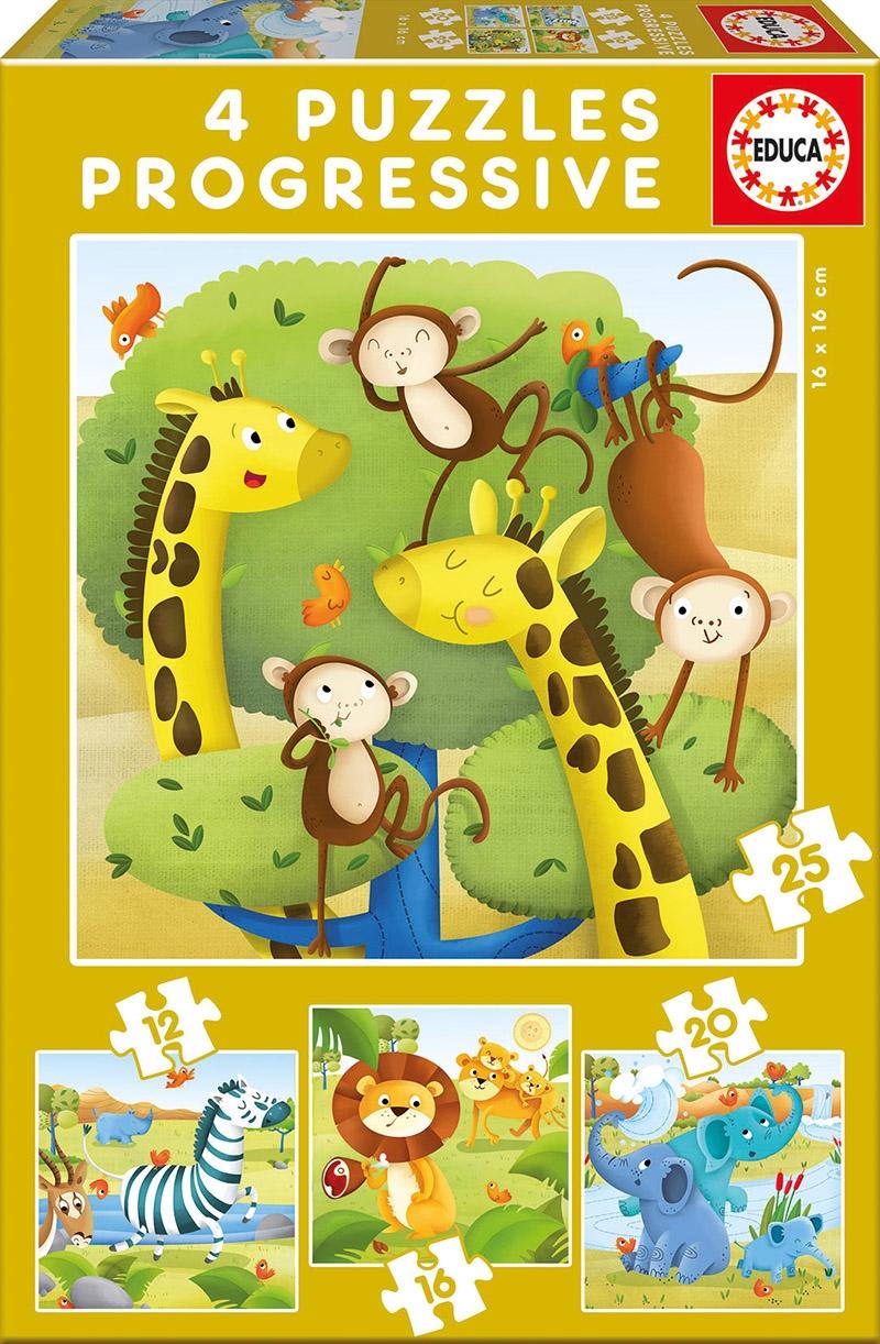 Educa Παζλ 12-16-20-25 WILD ANIMALS 17147 8412668171473
