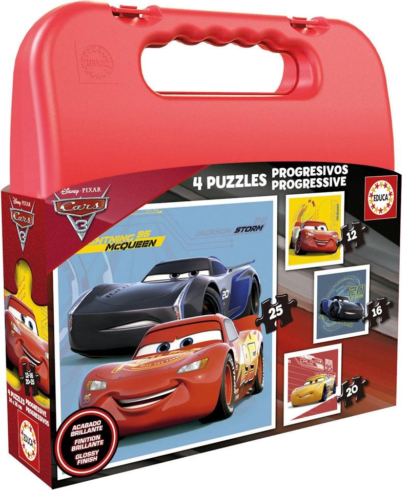 Educa - Παζλ CASE CARS 3 (12-16-20-25) 17175 - - - - 8412668171756 παιχνίδια   πάζλ