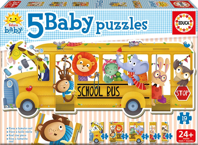 Educa Παζλ 24 MONTHS ANIMALS SCHOOL BUS 17575 8412668175754