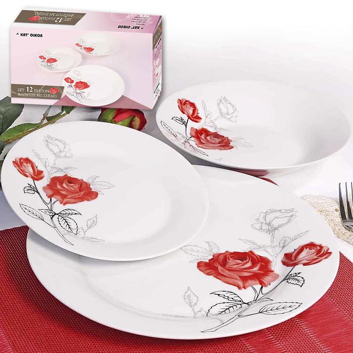 ΠΙΑΤΑ ΣΤΡΟΓΓΥΛΑ ΣΕΤ=12ΤΕΜ 80-176 είδη σπιτιού   κουζινικά   κεραμικά πιάτα   πιατέλες